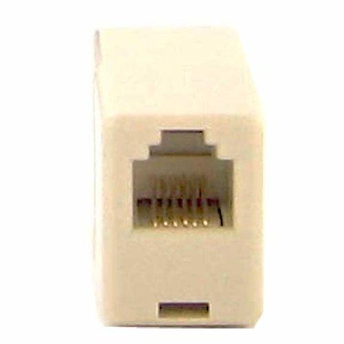SF Cable, RJ12 6P6C Straight Thru Inline Coupler (In Line Modular Coupler Thru)