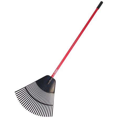 Bully Tools 92624 24-Inch Poly Lawn and Leaf Rake with Fiberglass Handle
