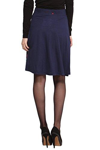 Desigual Desigual - Falda para mujer Azul marino 5000