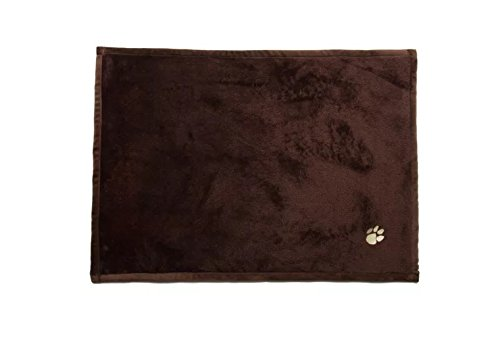 Embroidered Paw Prints Fleece Blankets, Micro Fur Soft Anti-Pilling Blanket for Kitties Puppies and Other Small Animals Dogs Cats Bed Blanket - Pet Flannel Soft Throw (41x31 Inches) by Inter Tech (Image #6)