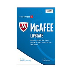 McAfee(R) LiveSafe(TM) 2017, For Unlimited Devices, For PC/Mac/Mobile, eCard