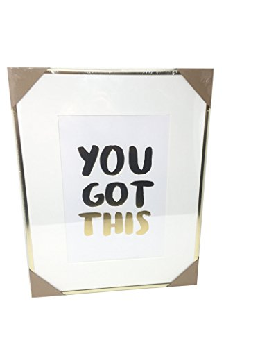 - Celebrate Shop 'You Got This' Inspirational Framed Print Gold 18x14