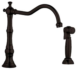 Grohe 20 130 ZB0 Bridgeford High Profile Wideset Kitchen Faucet with Side Spray, Oil Rubbed Bronze (Handles Not Included) (Bridgeford Kitchen Bronze)
