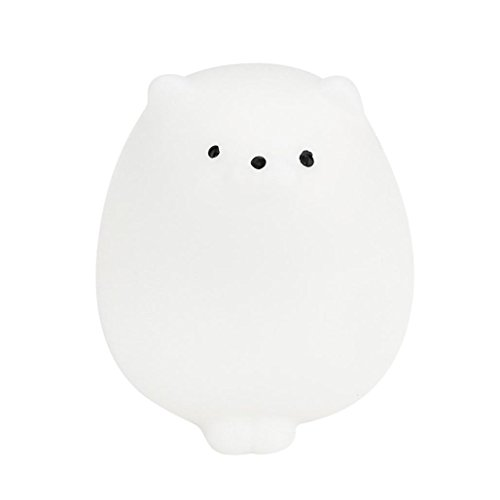 - kaifongfu Cute Mochi Squishy Cat Squeeze Healing Fun Kids Kawaii Toy Stress Reliever Decor, (Free Size, A)