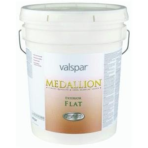 (Flat Clear Base Medallion Exterior Latex House Paint Size: 5 Gallons)
