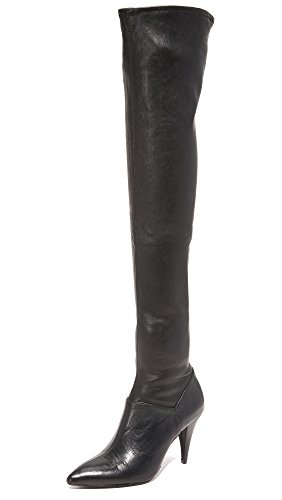 alice + olivia Women's Casey Over the Knee Boots, Black, 37 EU (7 B(M) US Women)