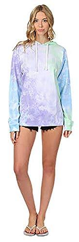 (Exist / Southern Spirit Women's Tie Dye Hooded Long Sleeve Tshirt Pullover (Grape Burst,)