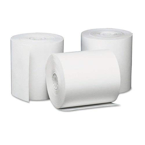 Universal UNV35763 Single-Ply Thermal Paper Rolls, 3 1/8'' x 230 ft, White (Case of 50) by Generic