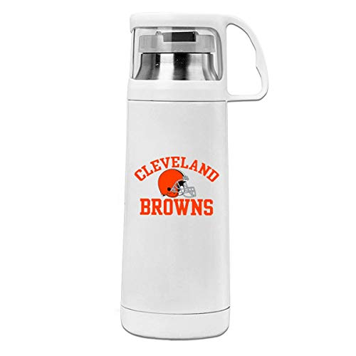 (Jeffredy Custom Travel Thermos Cleveland Browns Cup Cover Water Bottle Vacuum Stainless Steel Thermos Hot & Cold Beverage Bottle Drinks 350ML)