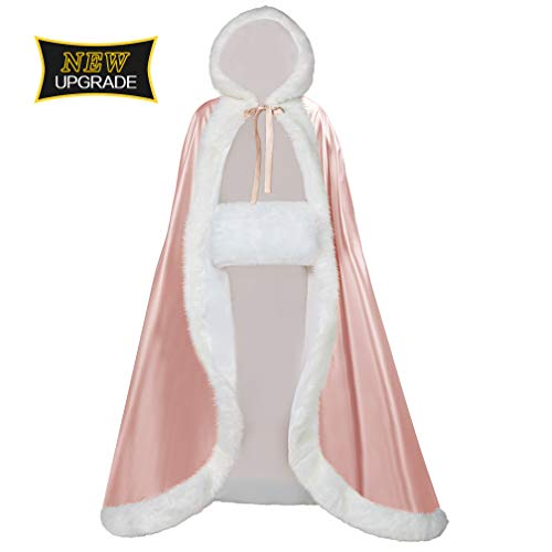 Full Length Wedding Hooded Cloak for Bride and