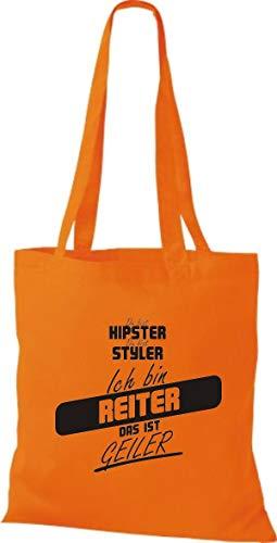 Algodón Mujer Shirtstown Para Naranja De Tela Bolso qppUFf1