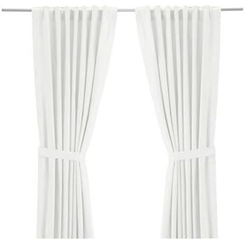 "IKEA Ritva White Curtain Set - Size: 57"" x 98"" (1, White)"