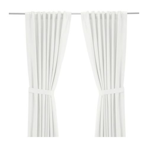 IKEA Ritva White Curtain Set - Size: 57 x 98 (1, White)