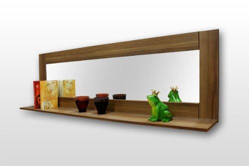 Brandneu Spiegel mit Regal Ablage Spiegelregal kernnussbaum: Amazon.de  KU84