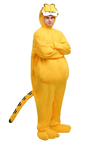 Adult Garfield Costume Standard Orange