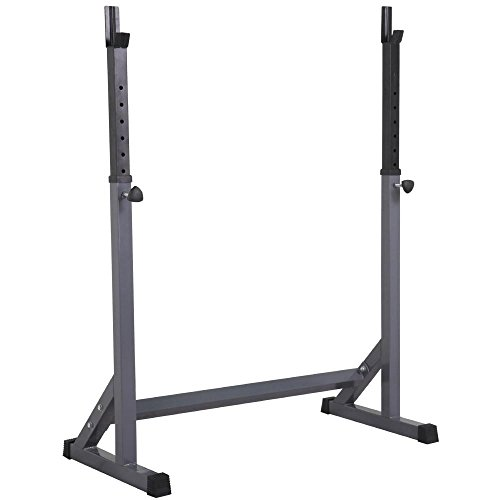 Yaheetech Adjustable Squat Rack Barbell Training Exercise Stand Strength Traning Equipment Barball Free Press Bench