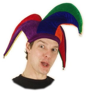 elope Court Jester Hat, Multi, One Size (Jester Hat)