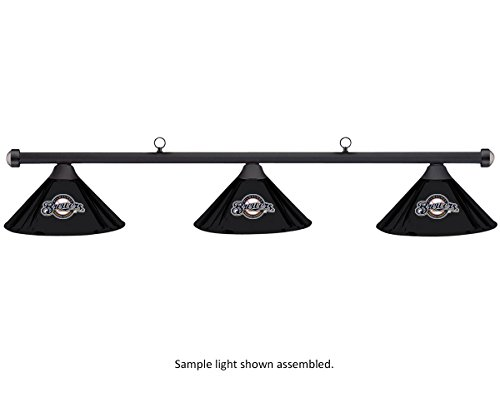 Imperial MLB Milwaukee Brewers Black Metal Shade & Black Bar Billiard Pool Table Light (Brewers Milwaukee Pool)