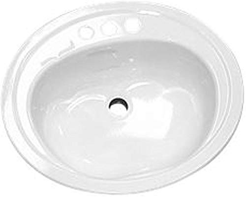 Bootz Industries 021-2445 Azalea Porcelain Enameled Steel 20 x 17 Lavatory Sink in White
