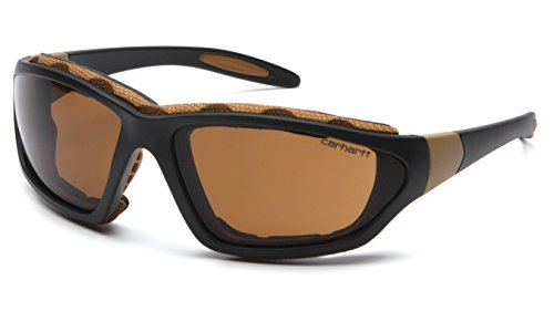 Carhartt Carthage Safety Eyewear with Vented Foam Carriage, Sandstone Bronze Anti-fog - Sunglasses Sandstone