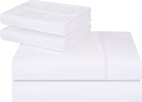 Utopia Bedding comfortable applied Microfiber Wrinkle Fade and Stain resistant 4-Piece King Bed list Set - White
