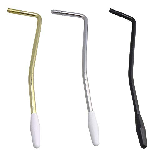 Timiy 3Pcs 5MM Tremolo Arm Whammy Bar with Tip Cap for Electric Guitar Fender Strat ()