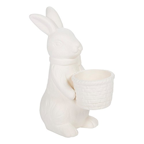 - Fun Express - DIY Bunnies W/ Baskets (6pc) for Easter - Craft Kits - DYO - Ceramic - Banks and Figurines - Easter - 6 Pieces