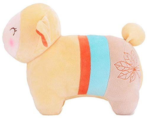 Yellow Lamb Plush Toys Creative Mascot Lamb Pillow Valentine's Day Gift by Generic