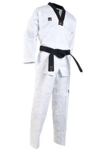 Mooto TaeKwonDo BS4 Dan DoBok Korea WTF Black V-Neck TKD Uniforms for Poomsae & Training 0 to 7 (190(US5)(5.90~6.23ft or 180-190cm))