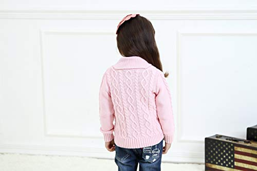 Zebra Fish Little Girls Sweaters Girls Button Up Sweater Long Sleeve Casual Girls' Knit Cardigan 3-4Y by Zebra Fish (Image #5)