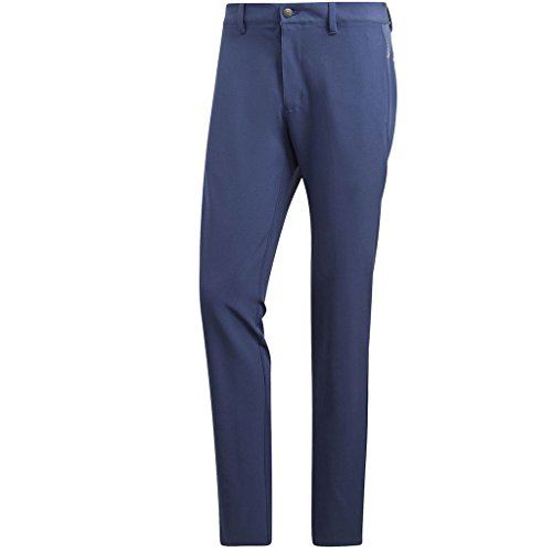 (adidas Golf 2018 Ultimate 365 3-Stripe Trousers Stretch Mens Performance Pant Tapered Leg Noble Indigo/Navy 34x34)