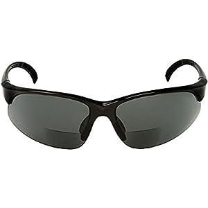 Sport Wrap Bifocal Sunglasses - Outdoor Reading/Activity Sunglasses (Black, 2.25 x)