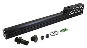 AEM 25-100BK Black High Volume Fuel Rail