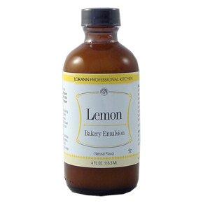 Lorann Flavoring Oil Lemon Emulsion Natural Flavor 4 Ounce -