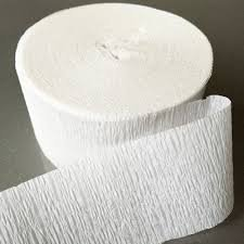 - DENNECREPE White Crepe Paper Streamers 2 Rolls 140 Foot Total