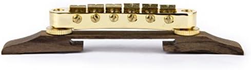 D DOLITY ゴールドメッキのサドル付きジャズギターローズウッドブリッジ
