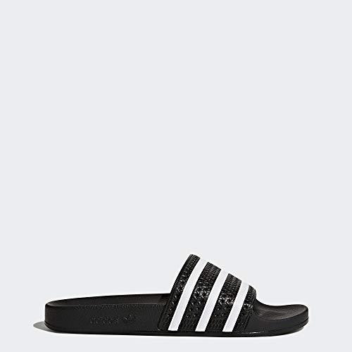 adidas Originals Men's Adilette Slide Sandals, White/Black, (10 M US)