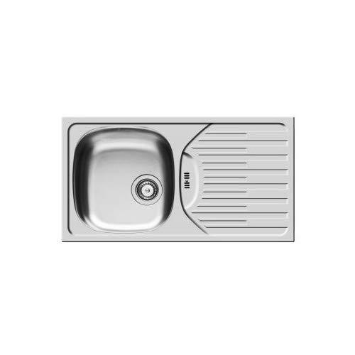 color gris Pyramis 100181201/fregadero de cocina de acero inoxidable 1B 1d/ /lino con un solo cuenco de et 78/horquilla 78/x 43, 5 lino