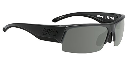 Spy Optic Flyer Shield Sunglasses, Matte Black/Happy Gray/Green/Happy Rose/Clear, 1.5 - Spy Scoop Sunglasses