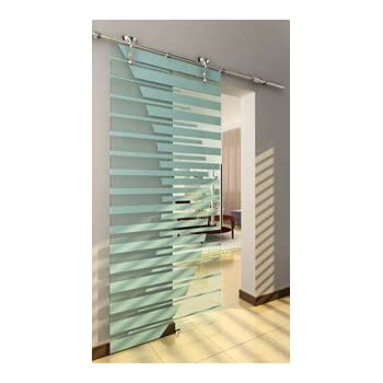Charmant Roma Modern Polished Stainless Steel Interior Barn Glass Door Hardware  Track Set