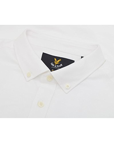 LYLE & SCOTT Hommes Short Sleeved Oxford Shirt White
