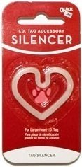 Quick-Tag New Glow in the Dark Dog Tag Silencer (Heart Shape, Large)