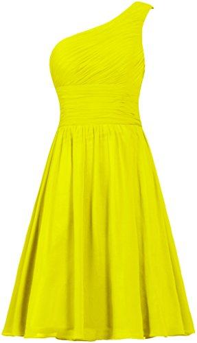 Short Shoulder ANTS Dress Women's Yellow Evening Bridesmaid Chiffon One Dresses wgYqgxr