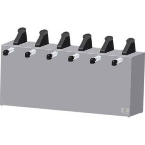 Server Products SE-6-07080 Express Pouched Condiment Station, (6) 07794 Pumps and Countertop Base, (6) 1-1/2 gal, 16 mm Capacity, Black/Stainless Steel (Server Pump Express)
