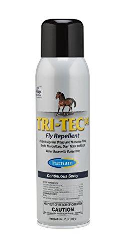 Farnam Tri-Tec 14 Equine Fly Repellent, 15 oz. Continuous (Farnam Tri Care)
