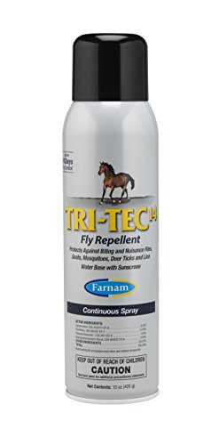 Farnam Tri-Tec 14 Equine Fly Repellent, 15 oz. Continuous Spray by Farnam