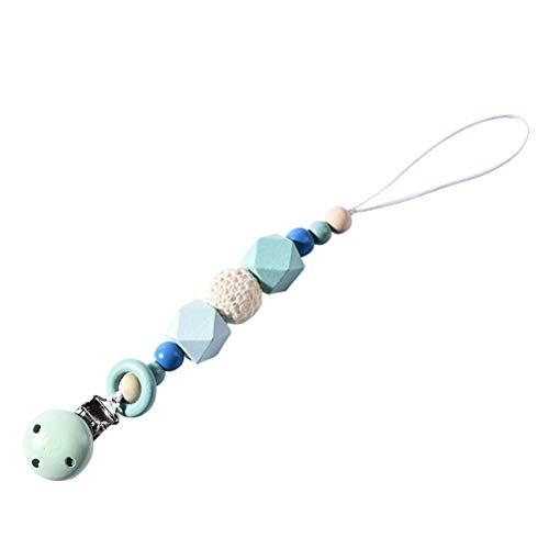 SUPVOX Cadena para Chupetes de Perlas Chupetero para Niños y Niñas (Azul)