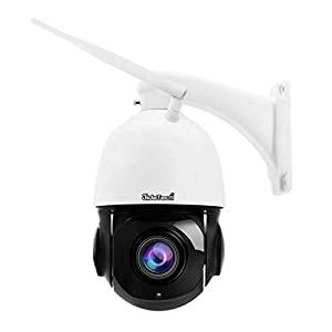 5MP PTZ Wifi Security Dome IP Camera 20x Optical Zoom supprot 2-Way-Audio 400fts Night Vision, IP66 Waterproof Onvif H…
