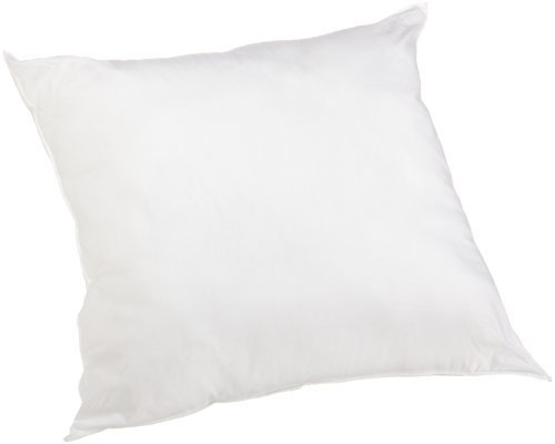 Perfect Fit 180 Thread-Count Cotton Euro Square Pillow, White (28 X 28 Euro Pillow)