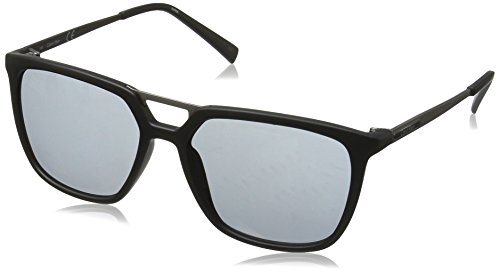 Calvin Klein Men's R364S Square Sunglasses, Matte Black, 55 mm (Calvin Sunglasses For Klein Men)